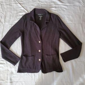 Tahari Wool Blend Cardigan Size Medium